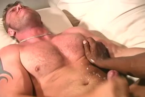 muscular White man Makes Love With A darksome Ma