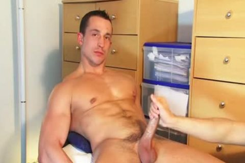 straight lad Found In A Gym Club, he receives Wanked His cock By A lad On clip!