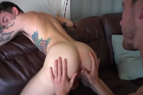 large 10-Pounder homosexual butthole invasion With Creampie