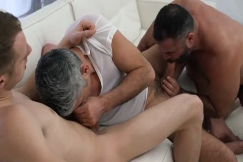 Two Daddies Take unprotected Advantage Of Their twink