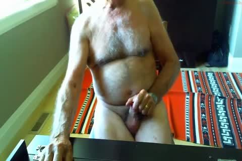 humongous Dicked daddy jerking off 003